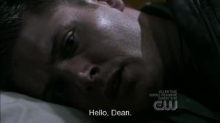 """Lại đang ngủ, gặp ác mộng, vừa thức dậy thì đã nghe ai đó chào, """"Xin chào, Dean."""""""