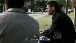 """""""Vậy là... Tôi... ờ... thi rớt rồi đúng không?"""" - Dean hỏi."""