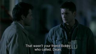 """""""Người gọi cậu không phải là Bobby bạn cậu đâu, Dean."""""""