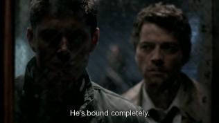 """Mặc dù Dean từ chối, nhưng anh vẫn bị Uriel ép đưa đến chỗ của Alastair. """"Hắn đã bị trói lại hoàn toàn rồi."""" - Cas nói."""