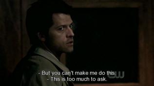 """""""Việc nhờ cậy này là quá đáng."""" - Cas tiếp lời."""
