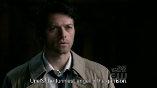 """Cas nghiêm túc đáp, """"Uriel là người hài hước nhất trong toàn quân đội trên ấy."""""""
