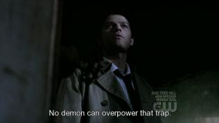 """Cũng nhờ sự việc đó mà Cas đã tìm ra hung thủ. Anh đến căn phòng Dean tra tấn Alastair và nói, """"Không một con quỷ nào có khả năng thoát khỏi bẫy phép ấy."""""""