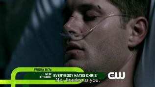"""""""Không, nhờ cả vào anh."""" Dean trách đểu."""