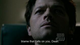"""""""...thể đổ lỗi cho cậu được."""" Cas an ủi."""