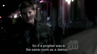 """""""Vậy nếu một nhà tiên tri ở chung phòng với một con quỷ thì..."""" - Dean nương theo sự gợi ý của Cas."""