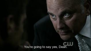"""""""Cậu sẽ nói đồng ý, Dean."""" - Zachariah lúc này đang hành hạ Sam và Dean để buộc Dean đồng ý."""