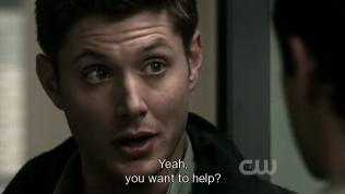 """""""Ừ. Anh muốn giúp hả?"""" - Ha ha, mặt Dean và Cas khúc này dễ thương quá."""