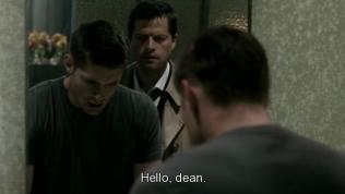 """""""Xin chào, Dean."""" - Cas tỉnh bơ chào."""