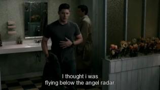 """""""Tôi tưởng mình đã nằm ngoài tầm phủ sóng của thiên thần rồi chứ."""""""
