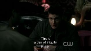 """""""Đây là tội lỗi."""" - Cas nói. """"Thả lỏng đi."""" - Dean trấn an."""