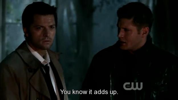 Dean lo lắng nhìn Cas.