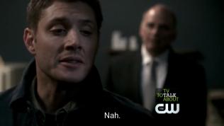 """Sau khi thấy đủ bi kịch của tương lai, Zachariah đưa Dean trở về và hỏi, """"Sao? Giờ đồng ý chưa?"""" Và Dean suy nghĩ một lúc, cuối cùng vẫn nói, """"Không."""""""