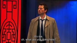 """""""Là tôi. Ờ... Hai cậu đang làm gì ở đây?"""" - Cas hỏi."""