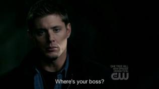 """""""Sếp của chú đâu?"""" - Chưa gì đã hỏi Cas ở đâu liền."""