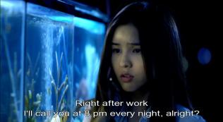Kim hữa sẽ gọi vào 8 h mỗi tối.