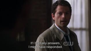 """Cas đáp, """"Nếu có câu trả lời cho câu hỏi của cậu ấy thì tôi có lẽ đã đáp lại."""""""