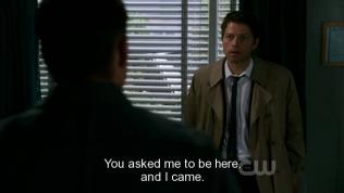 """""""Cậu đã gọi tôi đến đây, vậy nên tôi đã tới."""" Cas nói :"""">"""