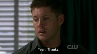 Dù vậy Dean vẫn nói lời cảm ơn Cas~