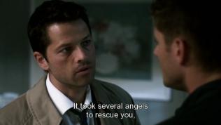 """Cas trả lời, """" Khi ấy phải cần đến rất nhiều thiên thần để cứu cậu ra."""""""
