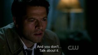 """""""Và người ta không... nói về nó."""" Dean tiếp tục."""