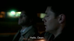 Cas bất ngờ xuất hiện trong xe của Dean ~ và như mọi khi, lại làm Dean giật mình =))