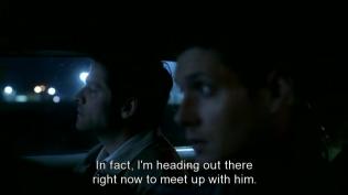 Dean đáp là Sam đang săn một demon vớ vẩn nào đó và đang trên đường tới chỗ Sam.