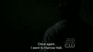 """""""Một lần nữa, tôi đã xuống Địa ngục Harrow."""" (ngày xưa xuống để cứu Dean, lần này xuống để cứu Sam *vì Dean*)"""