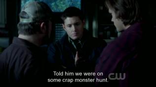 Trong lúc đó, Dean, Sam và Booby đã tìm được manh mối để tìm đến Crowley và họ quyết định giấu Cas.