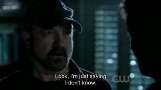 """""""Nghe này, chú chỉ bào là chú không chắc được."""" Bobby cố làm Dean nguội lại."""