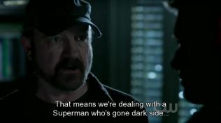 Bobby phân tích tình hình, trong trường hợp xấu nhất, nếu Cas quả thật về phe của Crowley thì nghĩa là họ đang phải đối đầu với một Siêu nhân chuyển sang phe bóng tối...