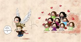 Run Cas, Run from those crazy girls =)))) fangirls are dangerous!!!
