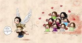 Run Cas, Run from those crazy girls =)))) fangirls are dangerous!!!