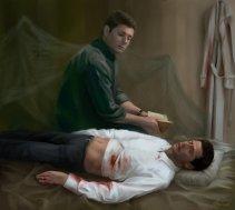 có khi nào Dean nhìn Cas ngủ?