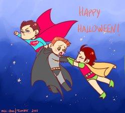 Sịp Cas, Dơi Dean và Robin Sam *cho cô Med nốt* =)))
