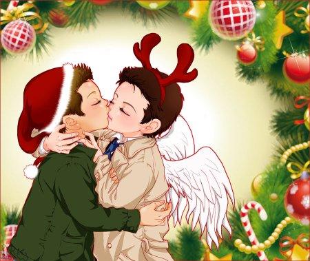hôn dưới cây Noel