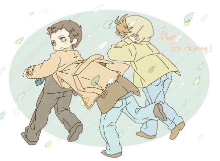 Trốn gió!! Cậu Dean khôn gúm =)))
