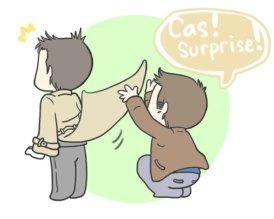 Cậu Dean, cậu làm như đó là váy không bằng =))))