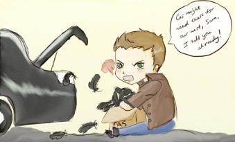 Yeah, tui biết cậu giấu đầy lông vũ của Cas sau cốp xe của mình =)))