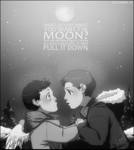 Anh muốn ánh trăng tôi cũng kéo xuống cho anh!