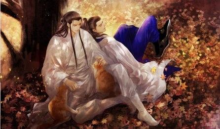 Có ba con mèo ngồi bên Ngũ Gia =))